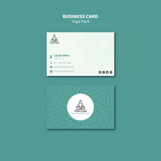 Yoga business card concept Free Psd