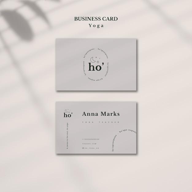 Yoga business card template Free Psd