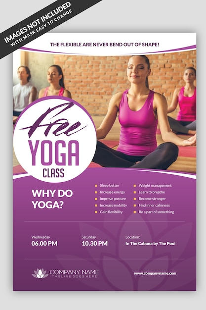 Yoga Class Flyer Template Premium Psd File