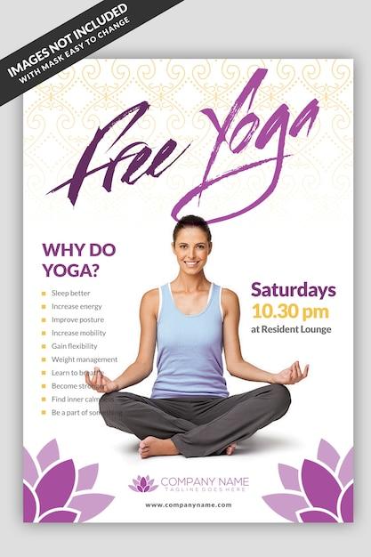 Yoga Class Flyer Template Premium Psd File
