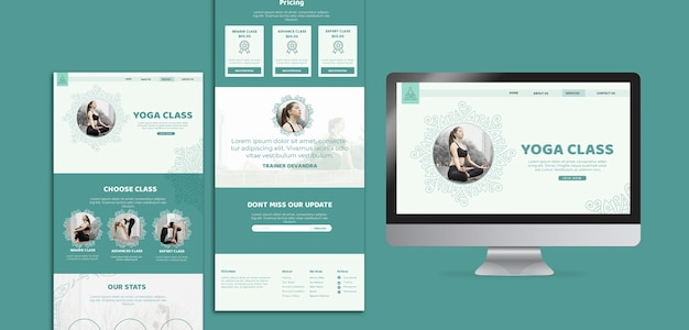 Yoga class pack template concept Free Psd