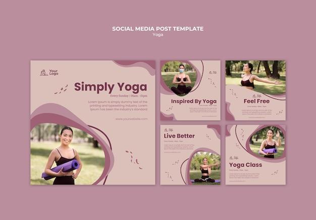 요가 클래스 소셜 미디어 게시물 템플릿 무료 PSD 파일