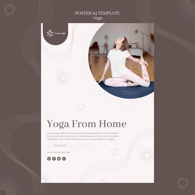 Шаблон плаката концепции йоги Бесплатные Psd