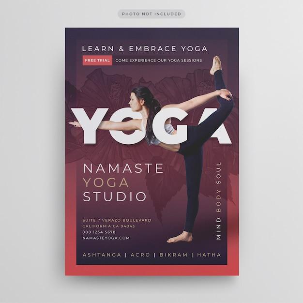 Yoga flyer template Premium Psd