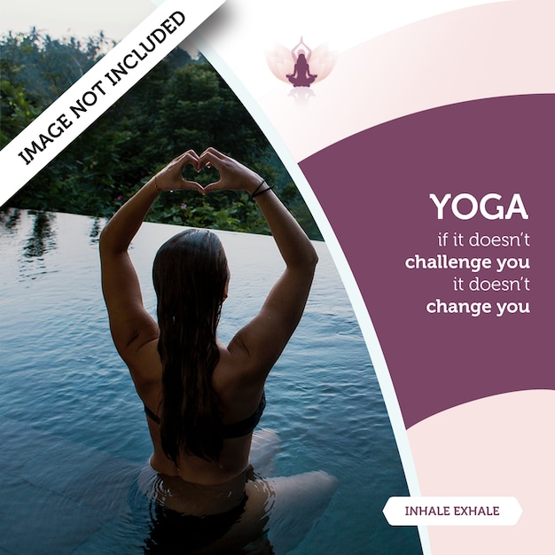 Yoga mockup concept with woman in water Free Psd