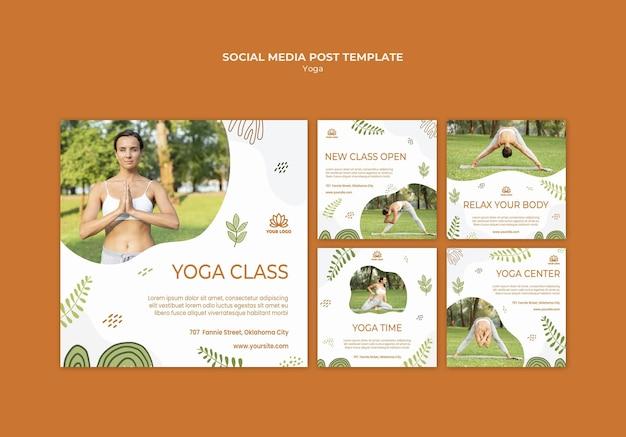 Шаблон сообщения в социальных сетях йоги Бесплатные Psd