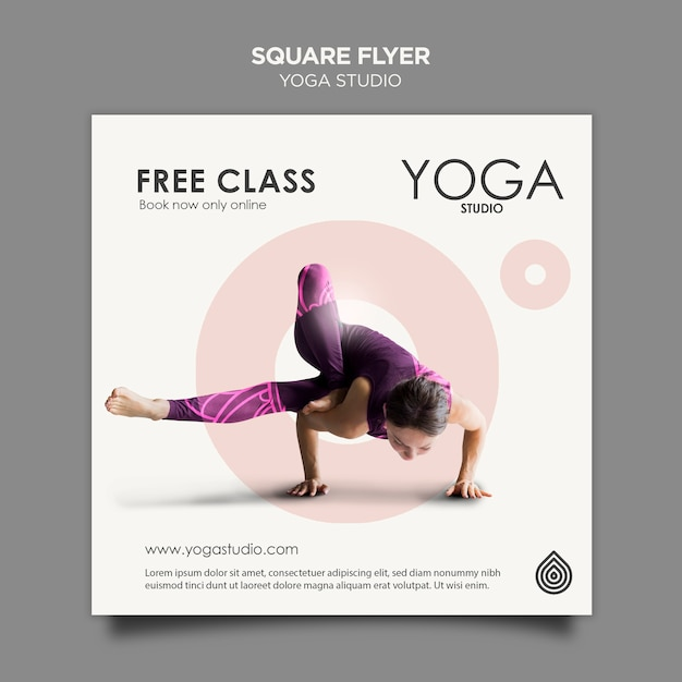 Yoga Studio Square Flyer Template Free Psd File