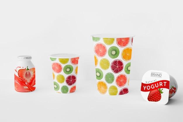 Yogurt cup mockup Free Psd