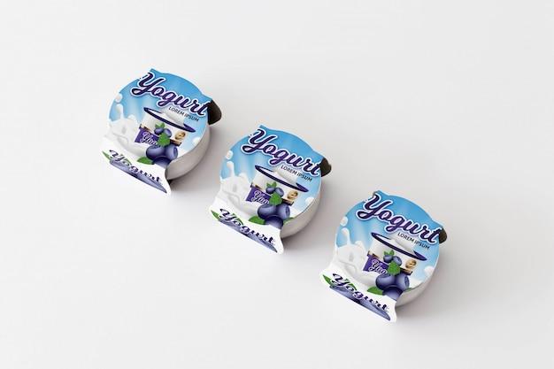 Yogurt packaging mockup Free Psd