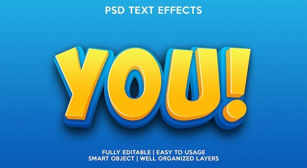 あなたテキスト効果テンプレート Premium Psd