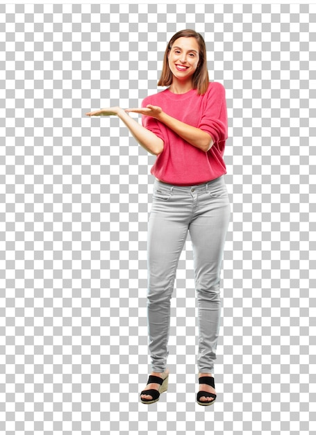 Young beautiful and cool woman full body Premium Psd