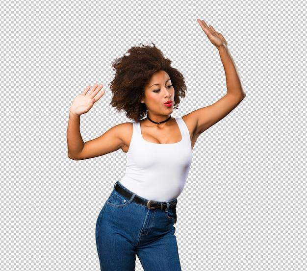 dancing Young black girl