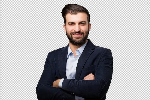Young businessman proud pose Premium Psd