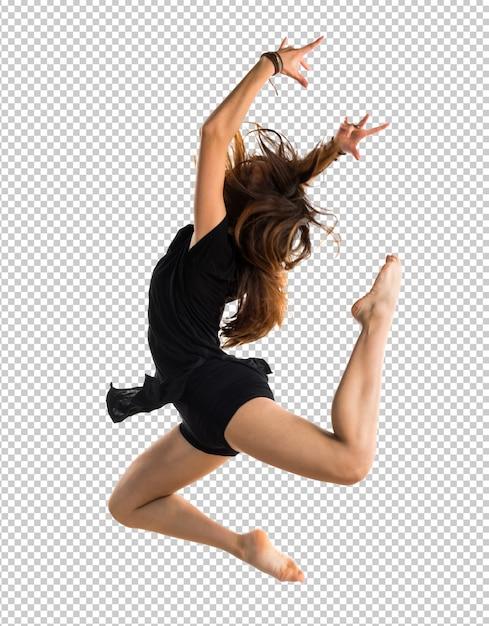 Young girl dancing Premium Psd