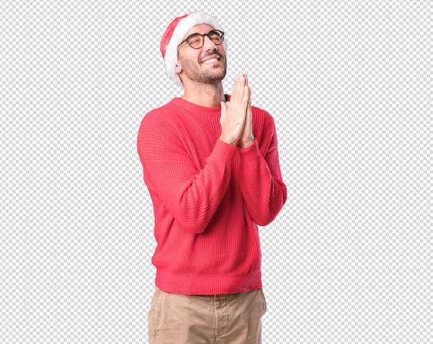 Young man gesturing Premium Psd