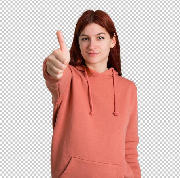Real redhead thumbs free