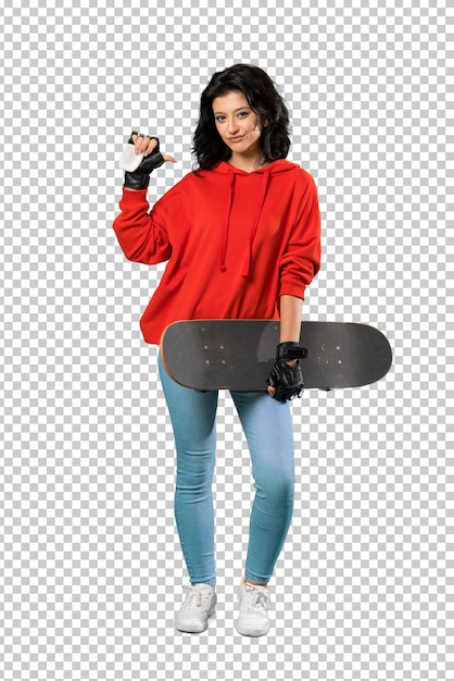 Young skater woman proud and self-satisfied Premium Psd