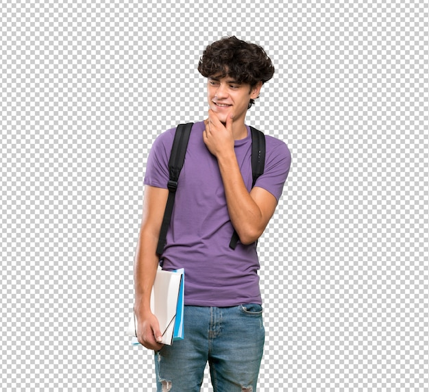 Young student man looking to the side Premium Psd