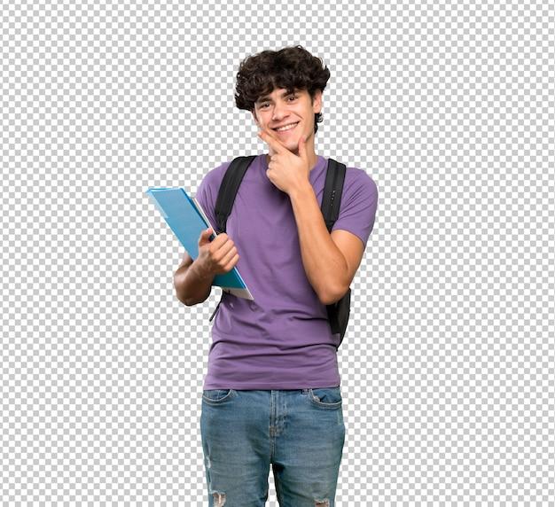 Young student man smiling Premium Psd