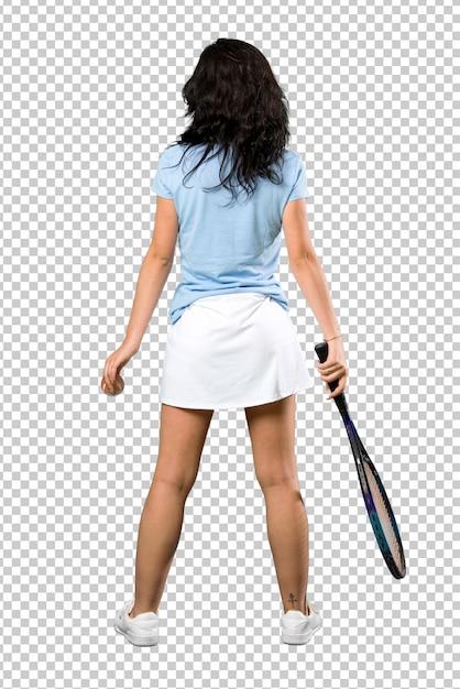 Young tennis player woman Premium Psd