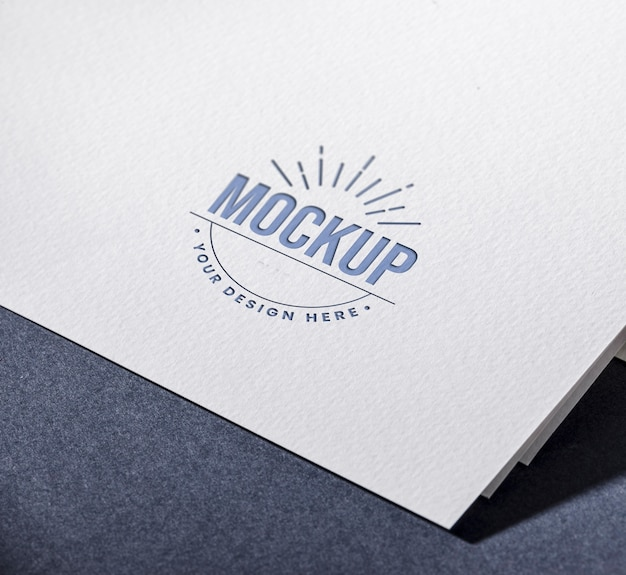 Il tuo design qui biglietto da visita mock-up Psd Gratuite