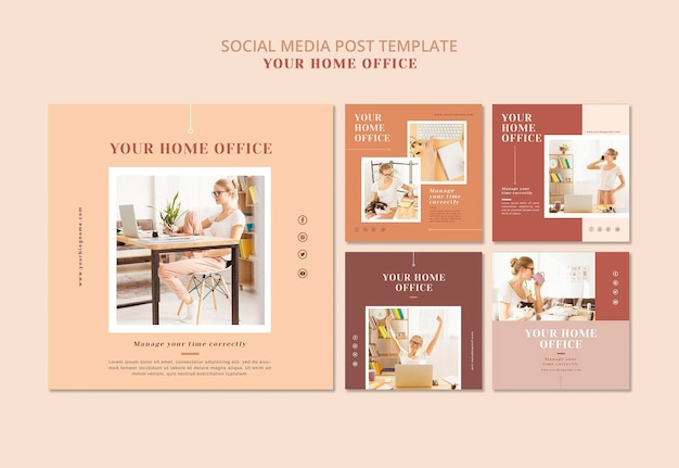 Your home office banner design Free Psd