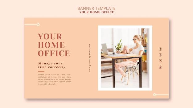 Il modello di banner del tuo ufficio a casa Psd Gratuite