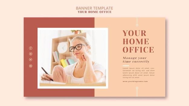 Il tema del banner del tuo ufficio a casa Psd Gratuite