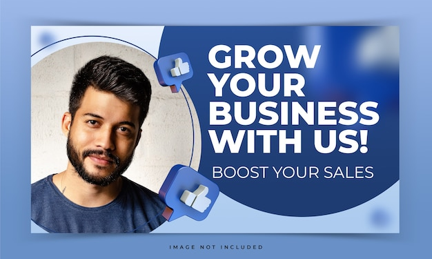 Youtube thumbnail for facebook internet marketing workshop promotion template Premium Psd