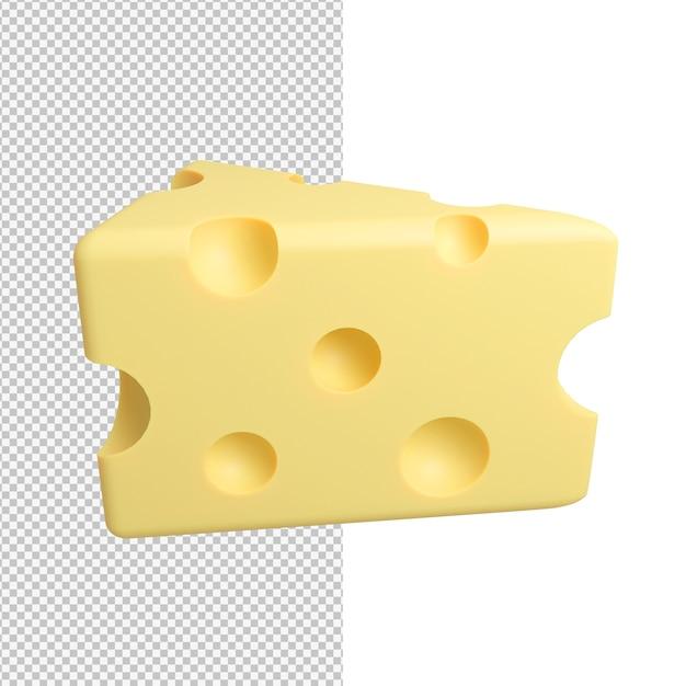Вкусный вкусный кусок сыра изолирован Premium Psd