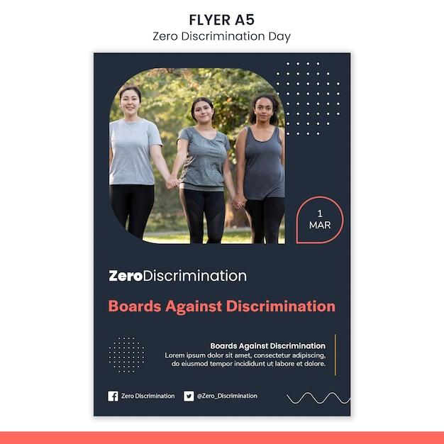 Modello di volantino del giorno di discriminazione zero Psd Gratuite