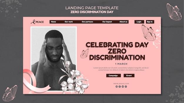 Pagina di destinazione del giorno zero discriminazione Psd Gratuite