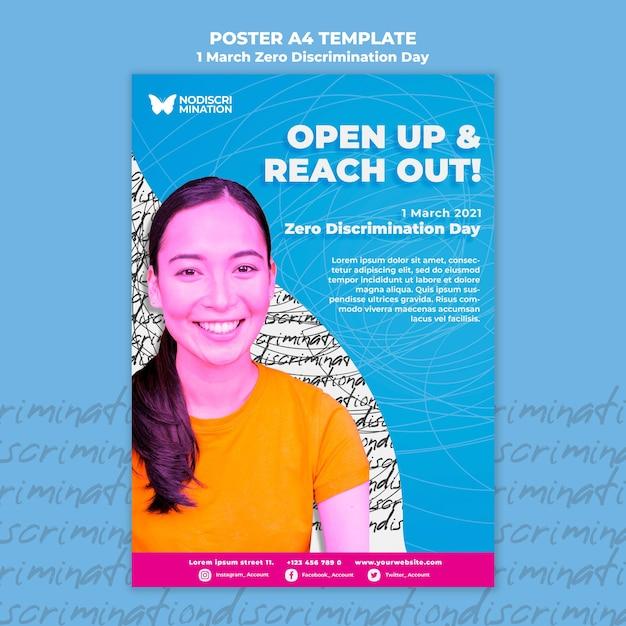 제로 차별의 날 포스터 템플릿 무료 PSD 파일