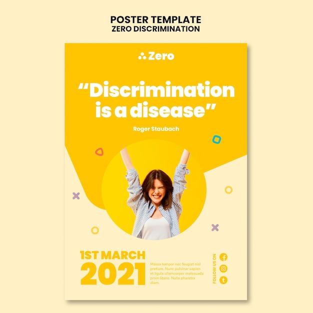 제로 차별의 날 인쇄 템플릿 무료 PSD 파일