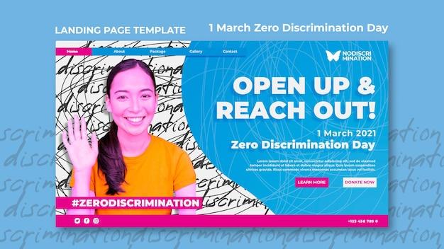 Modello web di giorno di discriminazione zero Psd Gratuite