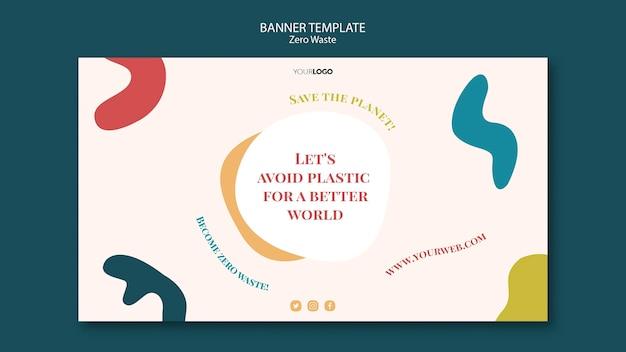 Design del banner zero rifiuti Psd Gratuite