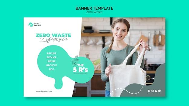 Concetto di modello di banner zero rifiuti Psd Gratuite