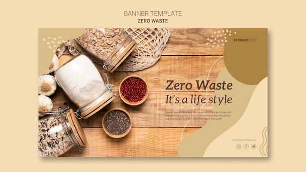Modello di banner zero rifiuti Psd Gratuite