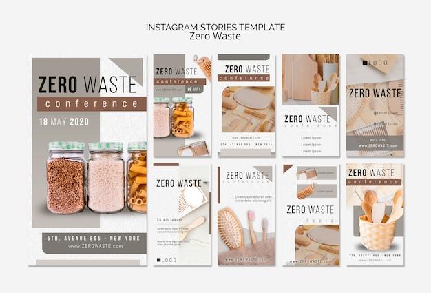 Modello zero storie di instagram rifiuti con foto Psd Gratuite