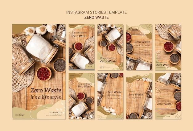 Шаблон рассказов нулевого отхода instagram Бесплатные Psd