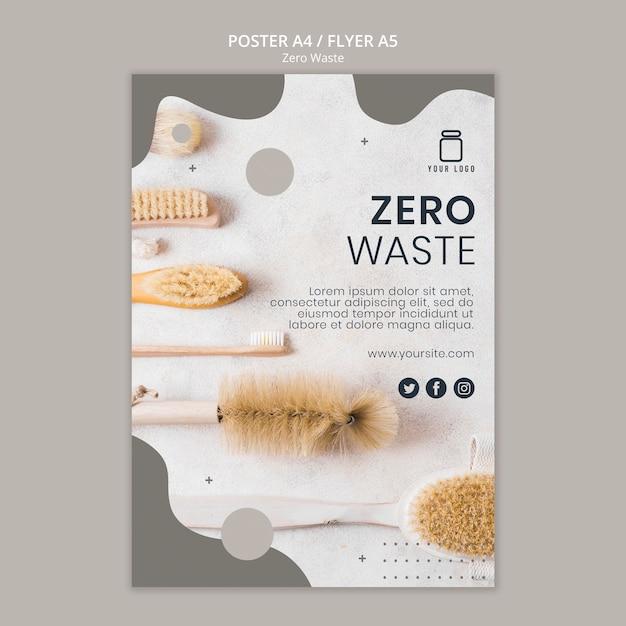 Modello di poster zero rifiuti Psd Gratuite