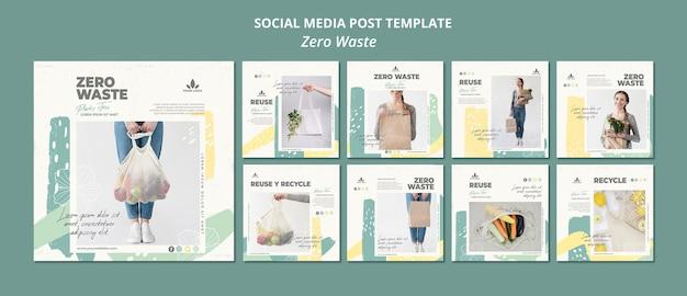 Zero waste social media post template Premium Psd