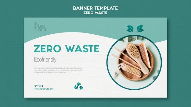 Modello di banner zero waster con foto Psd Gratuite