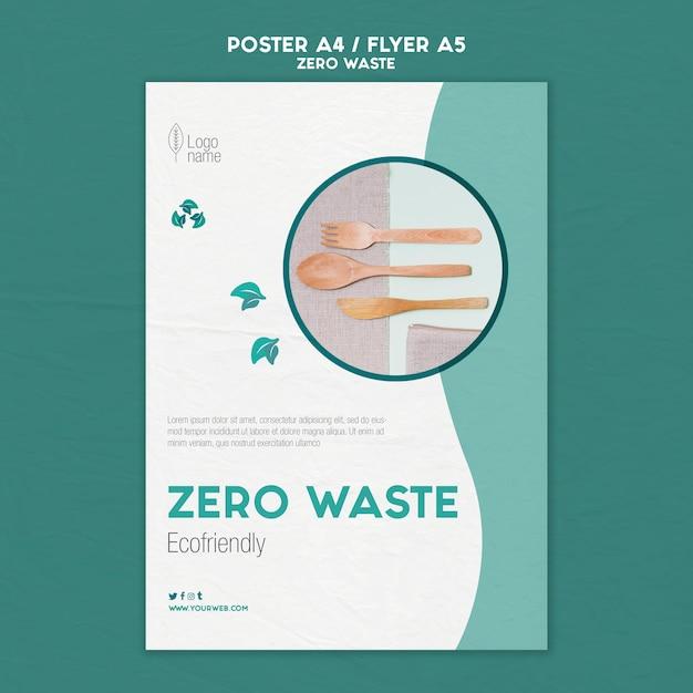 Modello di volantino zero waster con foto Psd Gratuite