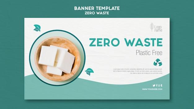 Modello di banner orizzontale zero waster con foto Psd Gratuite