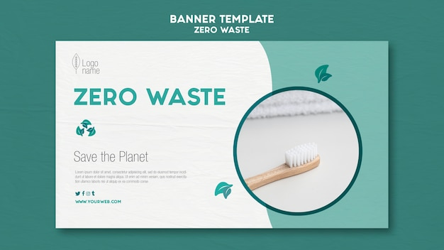 Modello di banner orizzontale zero waster Psd Gratuite