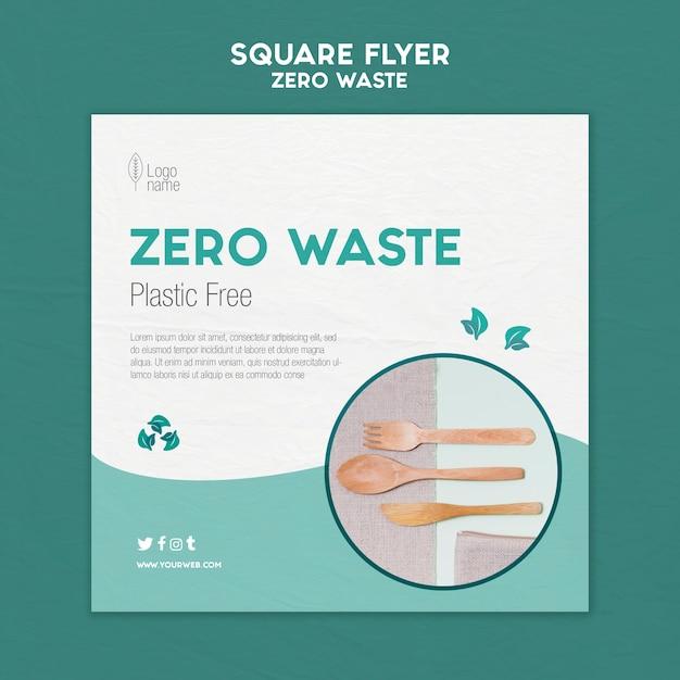 Modello di volantino quadrato zero waster con foto Psd Gratuite
