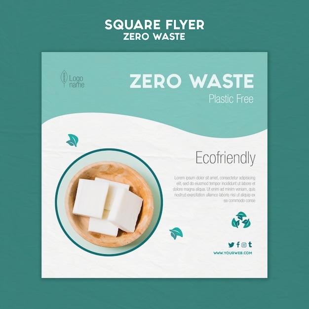 Volantino quadrato zero waster con foto Psd Gratuite