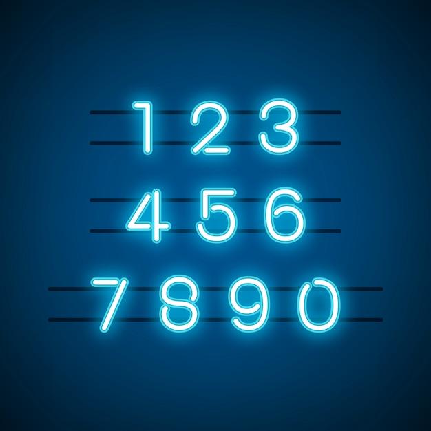 0〜9の数字のシステムベクトル 無料ベクター