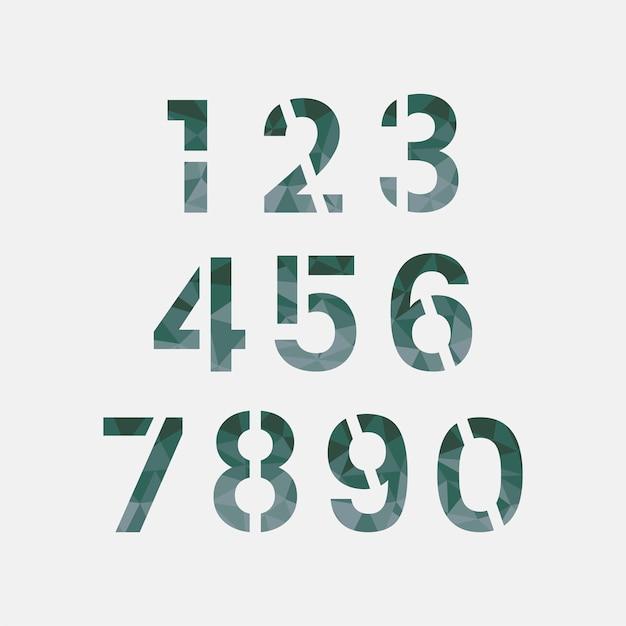 Число 0-9 системы счисления вектор Бесплатные векторы